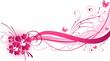 Hibiscus pink florals design