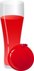 Fresh pomegranate juice.