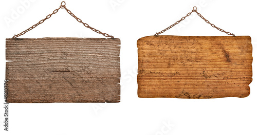 wooden sign with chain hanging background message