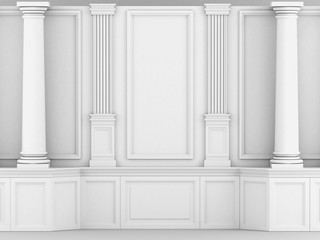 белые колонны в классическом стиле