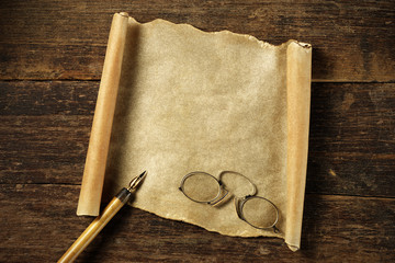 old blank parchment to write on