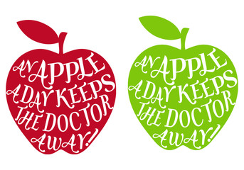 an apple a day keeps the doctor away, vector
