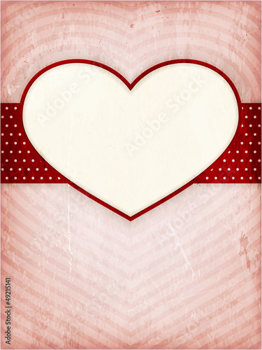 Heart frame on distressed background