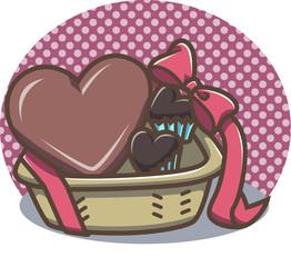 チョコレートバスケット