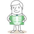 Figur, Arzt, Röntgenbild, Untersuchung, Vorsorge, Patient