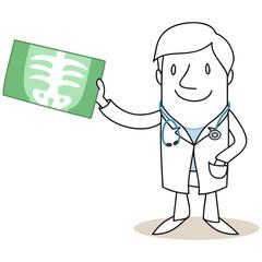Figur, Arzt, Röntgenbild, Untersuchung, Vorsorge