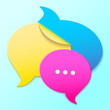 messege icon. sticker speech bubbles.