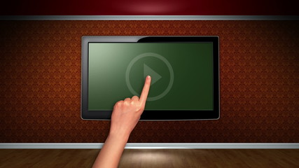 Room and Television, Loop, Green Screen and Alpha Channel
