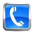 Telefon - Button silber-blau