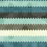 vintage zigzag seamless pattern poster