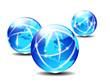 Global Communication Planet - lightlines of communication
