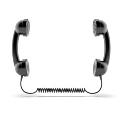 Two telephone handsets