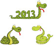 Snakes Cartoon Mascot Characters- Collection