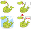 Snake Cartoon Mascot Characters- Collection
