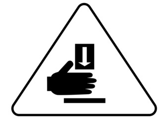 Attention - danger of crushing sign