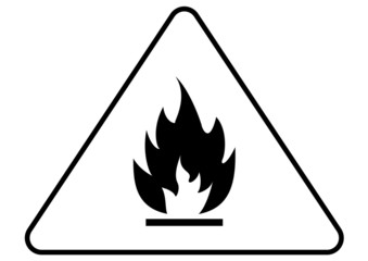 Attention fire sign