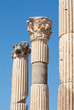 Corinthian columns in ancient Ephesus, Turkey