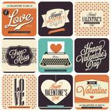 Fototapety 9 Vintage styled Valentine Card