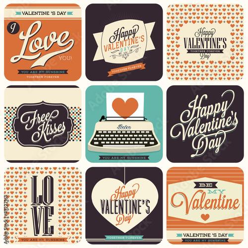 9 Vintage styled Valentine Card