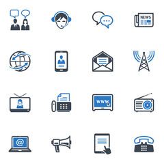 Communication Icons Set 2 - Blue Series