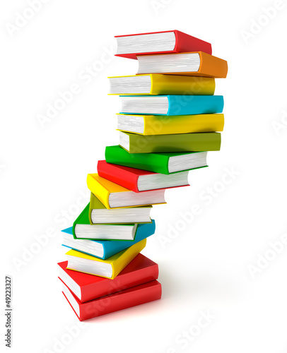 Books in pile