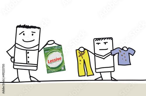 Laver des vêtements tachés