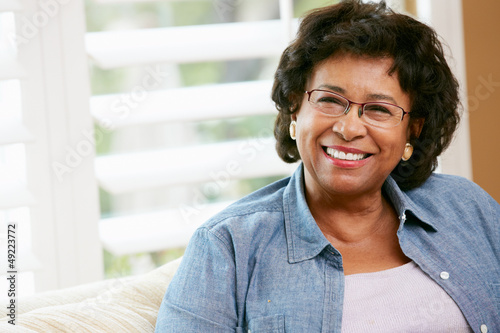 Portrait Of Happy Senior Woman At Home