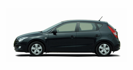 black hatchback side view