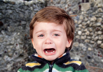 Beautiful baby crying