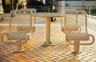 City Metal Picnic Seats