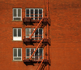 Fire Escape Red Brick