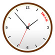 Time Is Up Wooden Wall Clock Concept