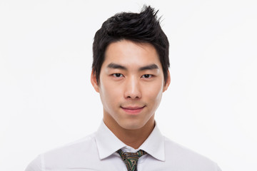 Asian young business man close up shot.