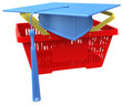 Graduation college school shopping basket