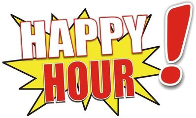 étiquette happy hour