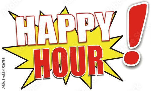 étiquette happy hour
