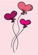 Liebesballons zum Valentinstag