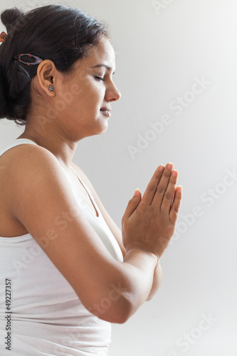 Indian girl in meditation