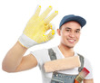 painter worker showing ok sign