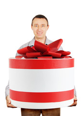 Man with a huge gift