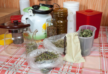 herbs at home kitchen