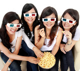 woman watching movie in 3d