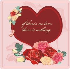 heart roses valentine