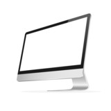 Modern computer monitor with blank screen