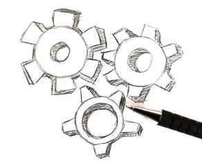 dessin de rouage industriel