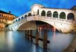 Venice - Rialto bridge at dusk, Italy