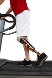 Male prosthesis wearer undergoing rehabilitation poster