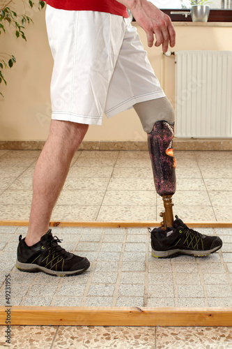 Prosthesis wearer training on diverse surfaces