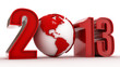 High tech and technology style 2013 happy new year