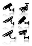 Video surveillance, new big set stickers